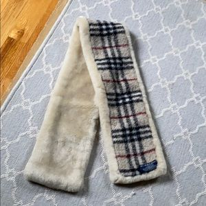 Burberry shearling stole